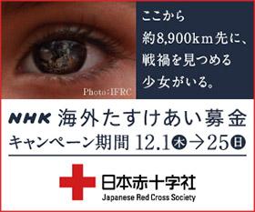 NHK 海外たすけあい募金 ここから約8,900km先に、戦禍をみつめる少女がいる キャンペーン期間12月1日(木)から12月25日(日)